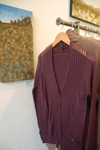 Seneca rising eggplant sweater