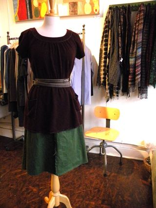 Alma tunic, seam skirt